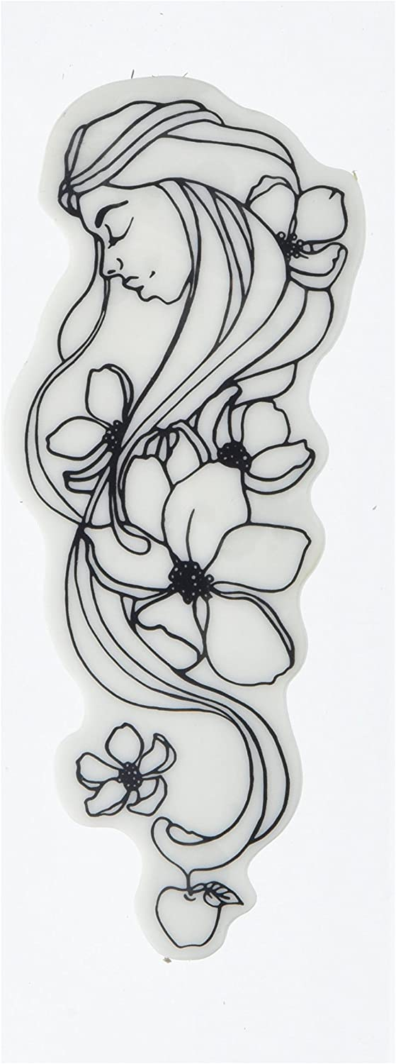White 2.25 by 6 Prima Marketing 980689 Mary Jamie Dougherty Creating in Faith Cling Stamps
