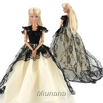 Miunana 1 Hermoso Vestido De Noche Princesa Ropa Vestir Fiesta Para Barbie Muñeca Doll Regalo