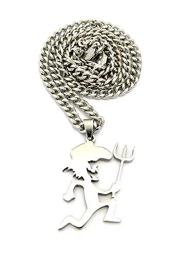 Polished pitchfork hatchetman pendant 5mm 24 cuban chain necklace polished pitchfork hatchetman pendant 5mm 24quot cuban chain necklace in silver tone aloadofball Gallery