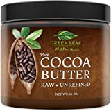 Cocoa Butter - Raw Unrefined Organic - 100% Pure for Hair and Skin - All Natural for DIY Recipes (16 oz)