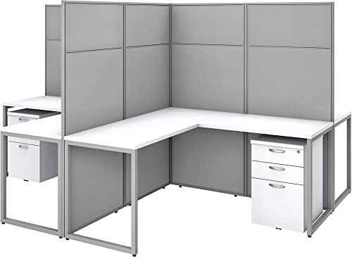 Cheap Bush Business Furniture Easy Office 4 Person L Shaped Cubicle Desk home office furniture set for sale