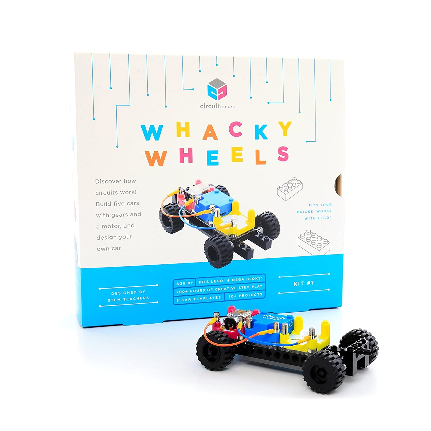 Circuit Cubes Whacky Wheels Kit Educational Stem Toy Projects Dough Project Ideas Play Parallel Creative Discovery Set Multicolor Toys Games