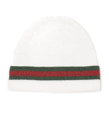 Gucci Homme 2060854G8699067 Blanc Laine Chapeau  Amazon.fr ... 1ee8a329051