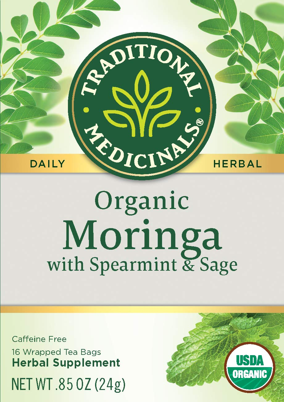 Traditional Medicinals Organic Moringa with Spearmint & Sage Herbal Tea