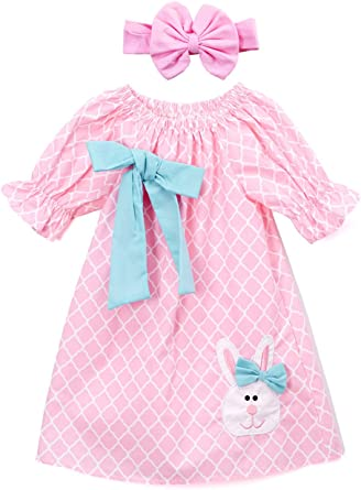 Perfect for Easter Sizes 6 month to 6x. Beautiful handmade boutique style dress