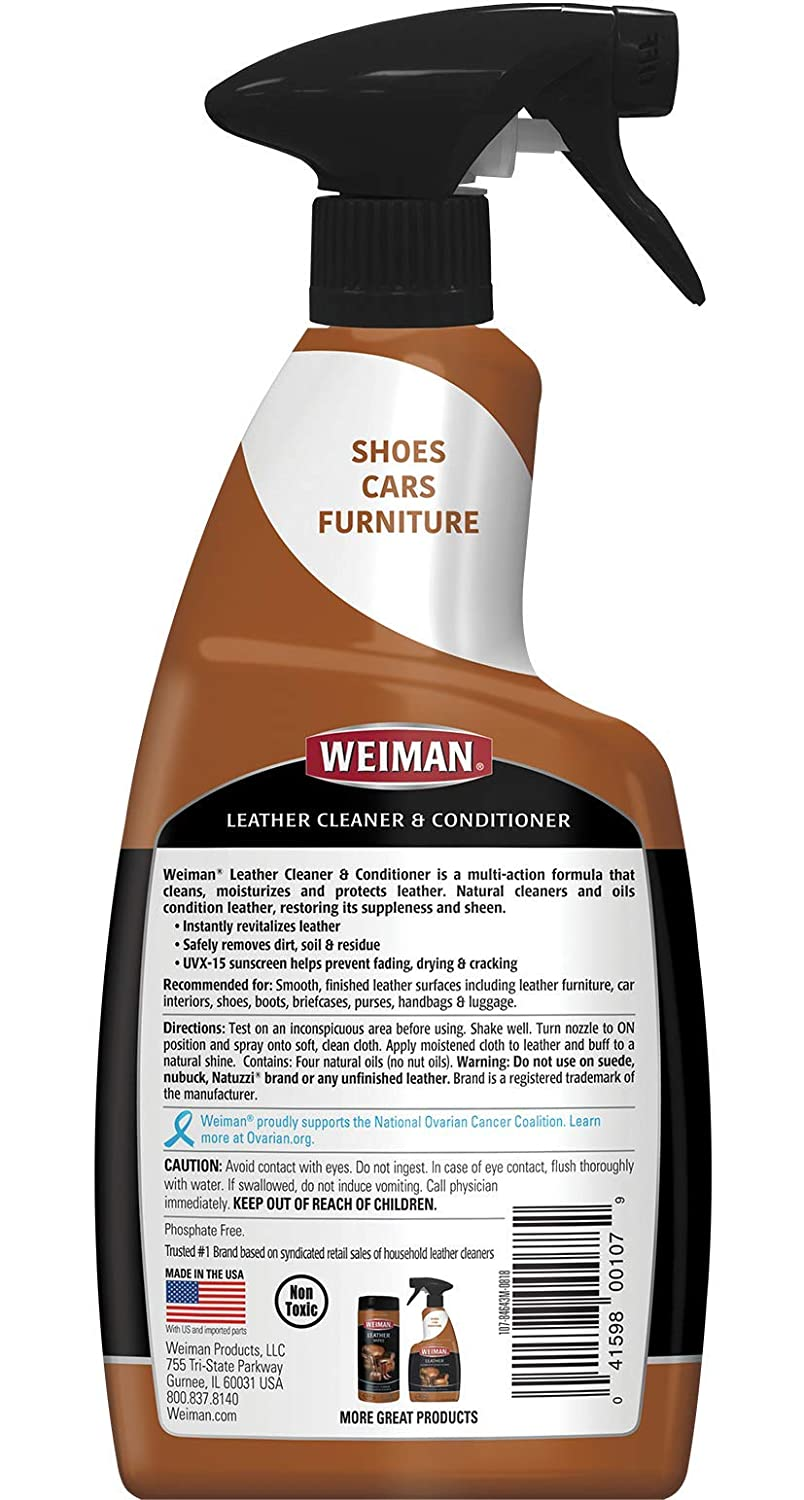 Enjoyable Weiman Leather Cleaner And Conditioner For Furniture 22 Ounce Cleans Conditions And Restores Leather Surfaces Uv Protectants Help Prevent Cjindustries Chair Design For Home Cjindustriesco
