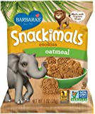 Barbara's Bakery Snackimals Cookies, Oatmeal, 6 Count (Pack of 6)
