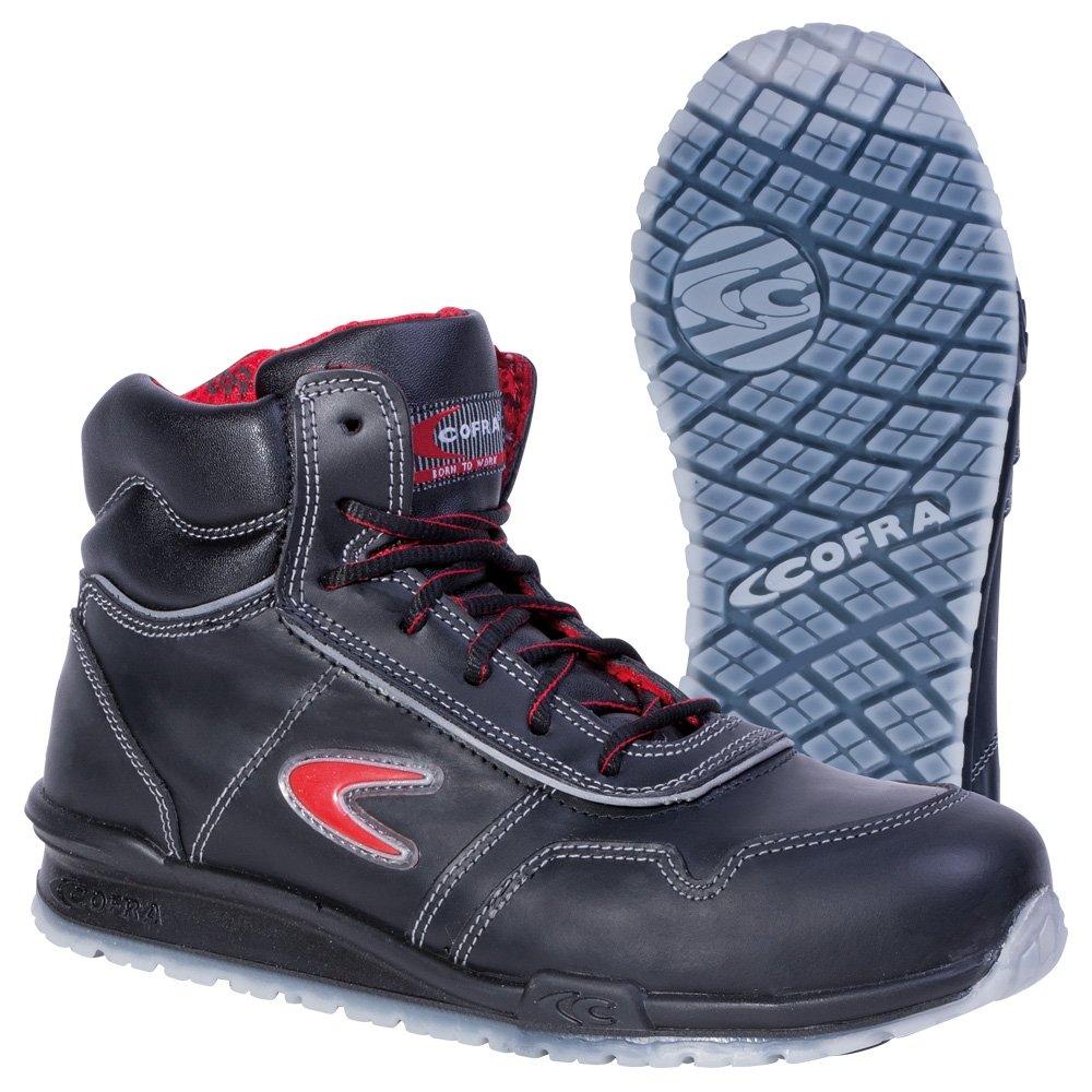Cofra 78470-000 - Seguridad Botas Puskas correr, zapatos de seguridad S3, Cuero Negro, Tamaño 42, Negro
