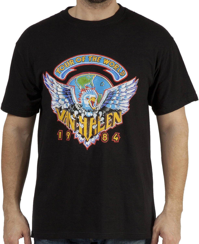Amazon.com: FEA Men's Van Halen 1984 Tour Of The World Men's T ...