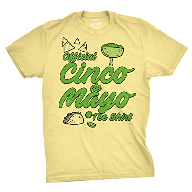a4dd30194 Image Unavailable. Image not available for. Color: Mens Official Cinco de  Mayo Tee Funny Taco Mexico Drinking T Shirt (Yellow) S