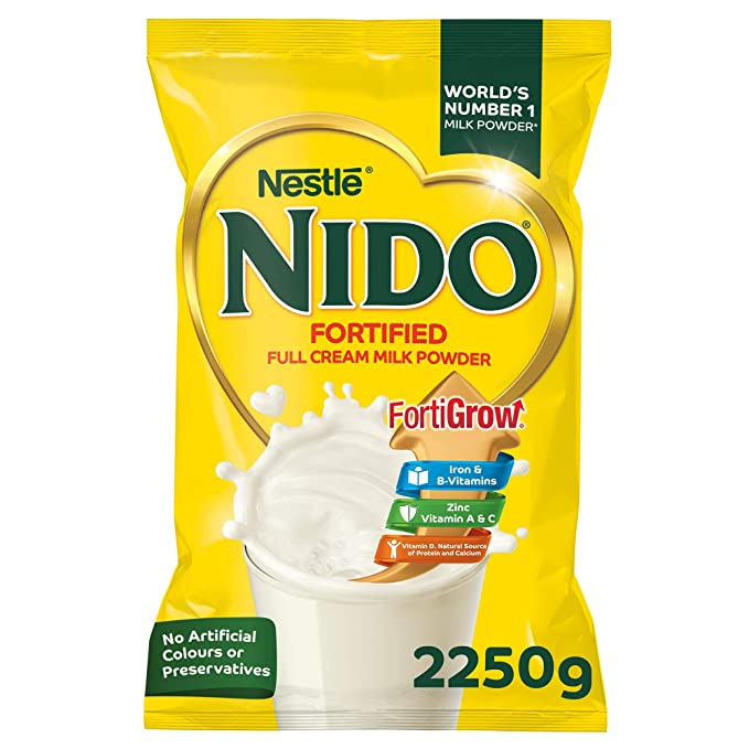 Nestle Nido Fortified Milk Powder Refill Pack, 2 250 KG