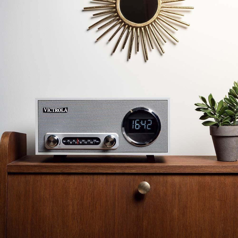 Noir Victrola Broadway Horloge digitale Radio-r/éveil Bluetooth