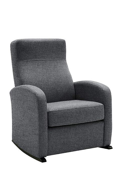 HOGAR TAPIZADO Butaca sillón Balancín Bob (Ideal para Lactancia) Tapizado en Microfibra (Water REPELENT) Color Gris Medidas: 74 x 72 x 100