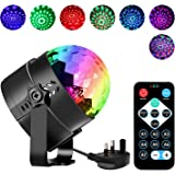 Disco Lights Disco Ball Mini Party Lights 7 Colors RGB Sound Activated DJ Stage Lights Crystal Ball with Remote Control Rotating Lighting Effect for Kids Gifts Party Dance Karaoke KTV Bar by Zknen