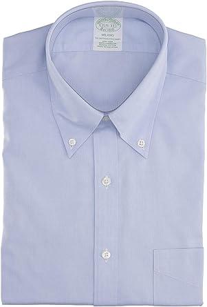 BROOKS BROTHERS Mod. 146666+ Camisa Milano Popelina Non-Iron Hombre Azul Claro 42: Amazon.es: Ropa y accesorios