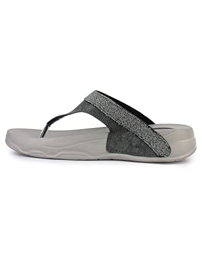 cdb3f21ee85a APPE Women Casual flip Flops Grey zap  Buy Online at Low Prices in India -  Amazon.in