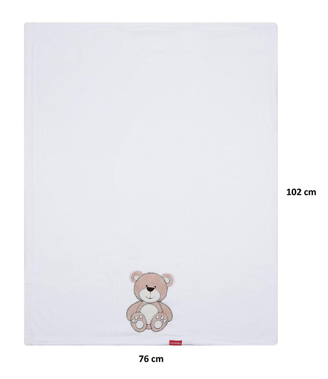 Babydecke Kuscheldecke Bobobaby Teddybär 76x102plüschdecke Kinder Wagendecke Baby