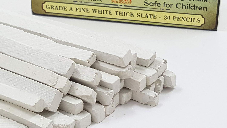 Rawsimple Grade A Fine White Thick Slate 30 Pencils Single set of 30 Pencils