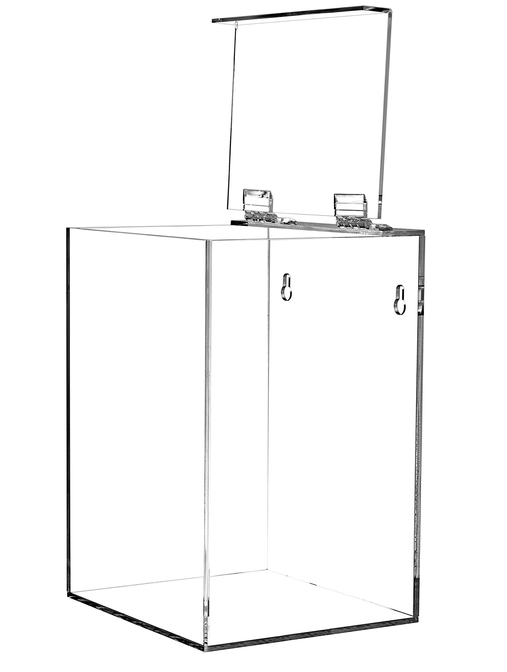 10.3-Inch Wide x 3.8-Inch Deep x 16-Inch High AH130 Kantek Acrylic Glove Dispenser Triple Box Capacity Clear
