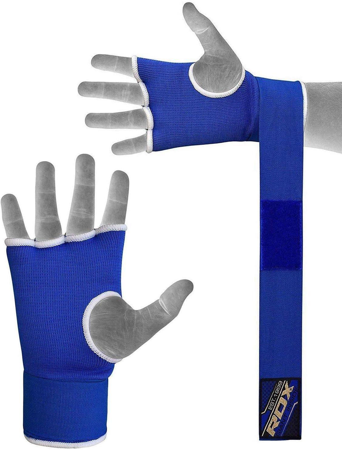 Lisaro Gr L Neu Boxen Elastisch Innenhandschuhe MMA Boxbandagen Handschuhe ohne Daumen mit Polsterung