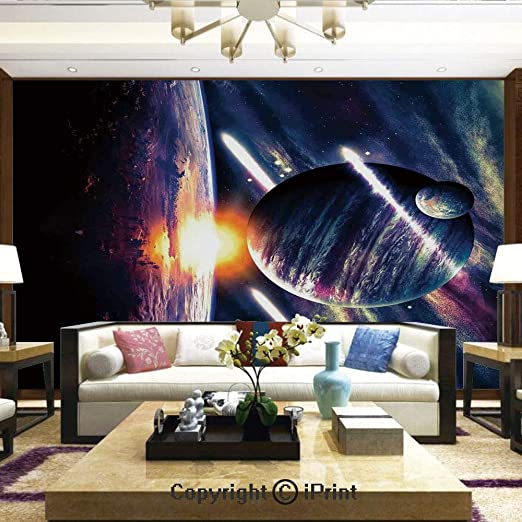 Wall Prints Poster Ocean Night Moon Sky Tropical Decals Wall Decor Mural Decal