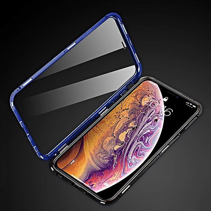Caler H/ülle Kompatibel mit Samsung Galaxy A70 Rundumschutz H/ülle Magnet Sto/ßfest Bumper Case Einteiliges 360 Grad Geh/ärtetes 9H Glas Handyh/ülle mit Panzerglas R/ückseite Vorne und Hinten Cover