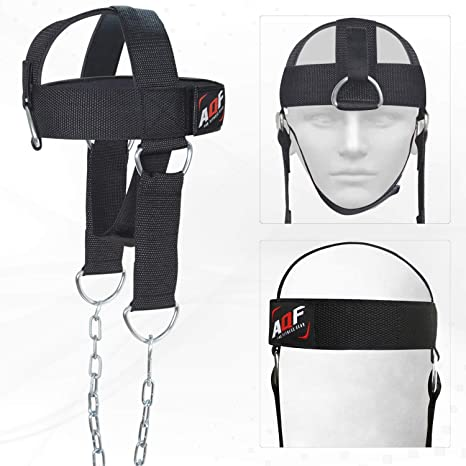 AQF Adjustable Head Harness Dipping Neck Builder with D-Hook attachment...
