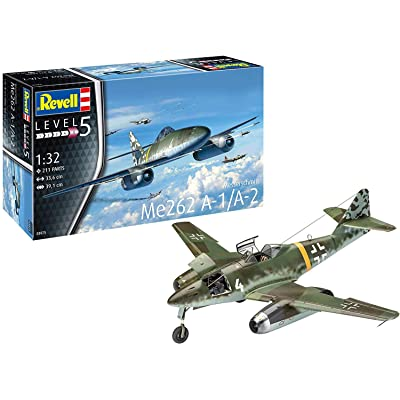 Revell GmbH Revell 03875 3875 1:32 Me262 A-1 Jetfighter Plastic Model Kit, Multicolour, 1/32: Toys & Games