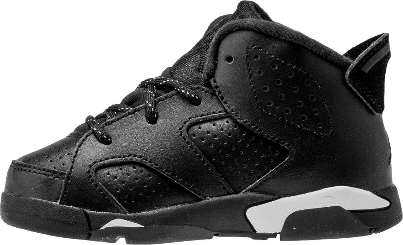 online store 8a0b1 36977 Amazon.com   Jordan Nike Air Retro 6 Black Cat Infant Toddler Black White  384667-020   Shoes
