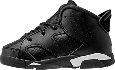 new products bb754 22830 Amazon.com | Jordan Nike Air Retro 6 Black Cat Infant ...
