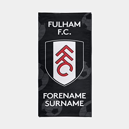 Official PERSONALISED Fulham FC Crest Design Towel - 70cm x 140cm