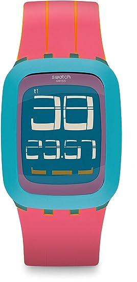 Swatch Reloj Digital para Mujer de Cuarzo con Correa en Silicona SURS103: Amazon.es: Relojes