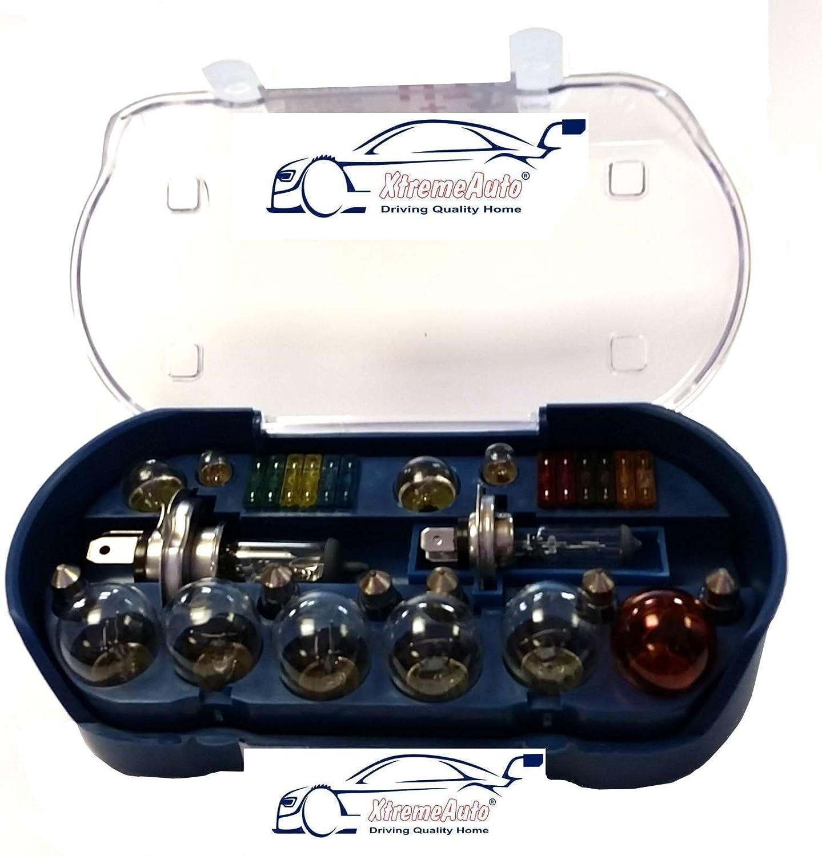 XtremeAuto® Kit universale di 30lampadine di ricambio e fusibili (comprese le lampadine H1H4H7380382581) + adesivo XtremeAuto XtremeAuto®