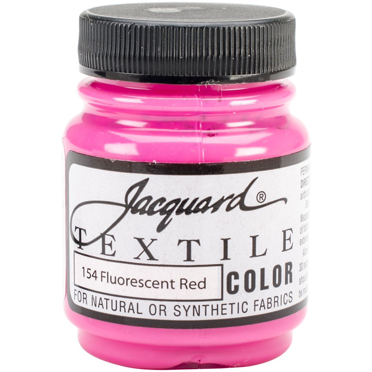 Jacquard Products Textile Color Fabric Paint 2.25-Ounce, Super Opaque White TEXTILE-1220
