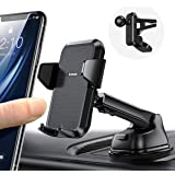 4 in 1 [Ultra Sturdy & Durable] Car Phone Holder [Easy 1 Hand Use] Anwas Dashboard Air Vent Windshield Cell Phone Mount for C