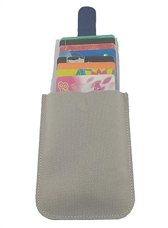 Artmi tarjeta de Crédito Titular RFID tarjetero de aluminio bloqueo automático Pop-up Tarjeta Caso, azul (Azul) - AW074-16