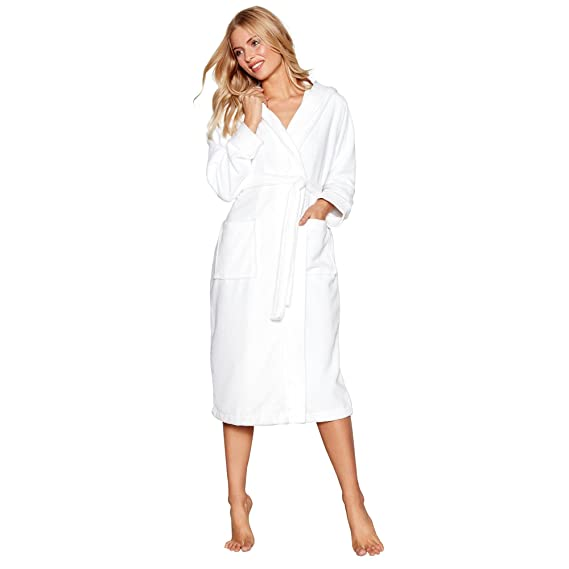 J By Jasper Conran Womens White Towelling Hooded Dressing Gown 8 to ...