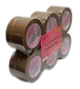 "Free 2/"" Dispenser 36 Rolls Brown 2/"" x 2.0 Mil x 110 Yds Packaging Packing Tape"