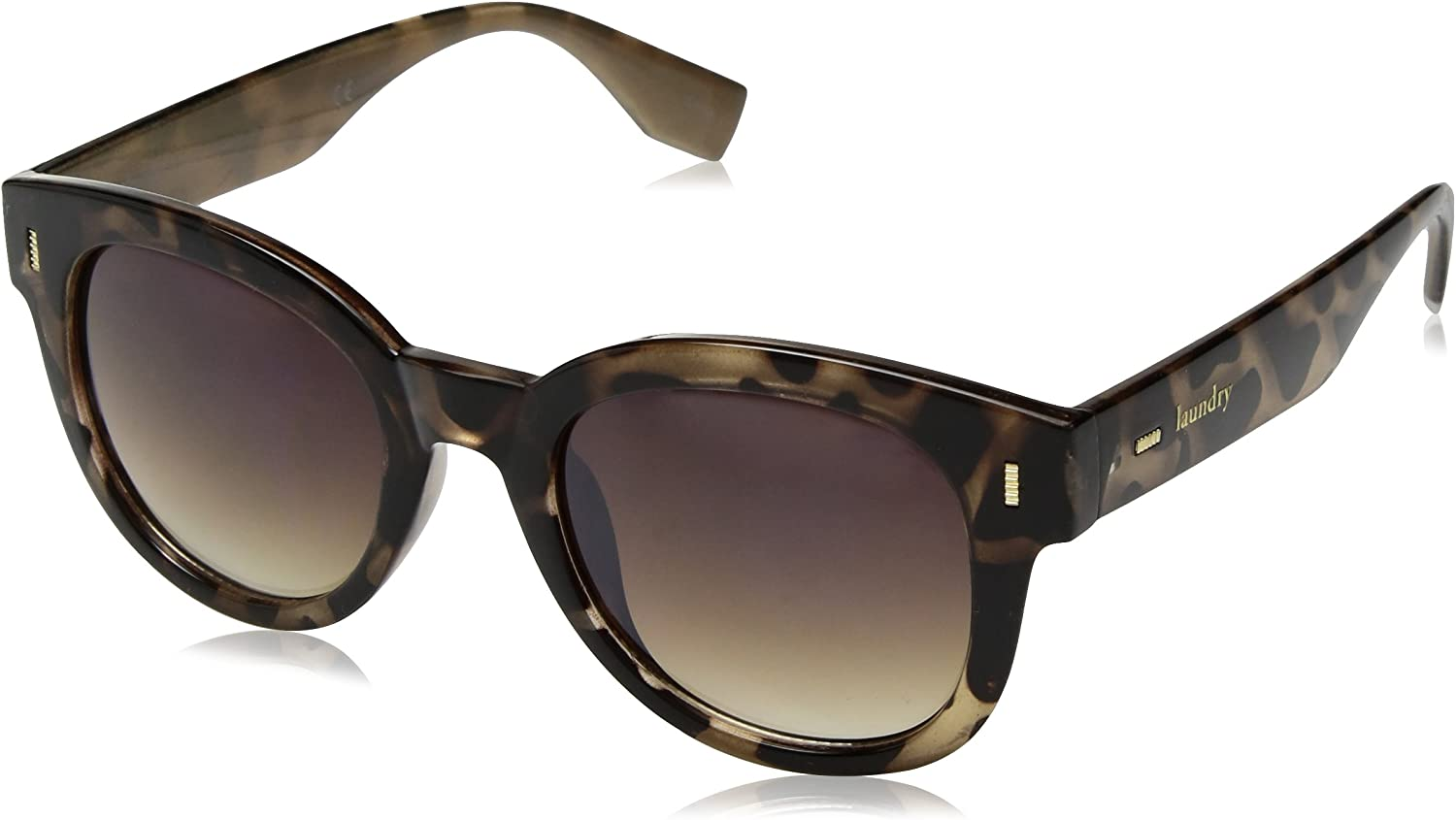 Laundry by Shelli Segal Women's LS121 Oval Sunglasses with 100% UV Protection, 50 mm