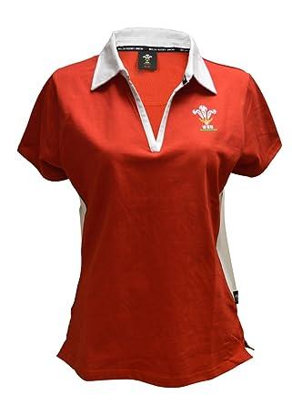 cb85b242d71 [20-22] NEW WOMENS TEENS WELSH WALES WRU SHORT SLEEVE V COLLAR RUGBY SHIRT  TOP WRU-W-027: Amazon.co.uk: Clothing
