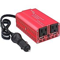 Cantonape Inversor de corriente de coche de 500 W DC 12 V a 110 V AC Convertidor con doble toma de CA Tamaño y Daul 3.1…