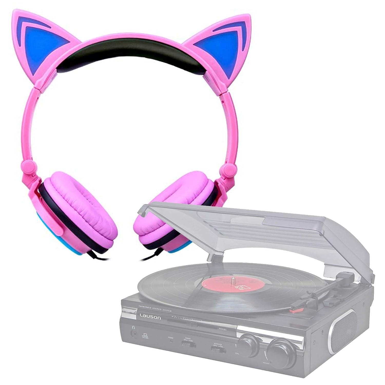 DURAGADGET Auriculares Plegables estéreo con Orejas de Gato en ...