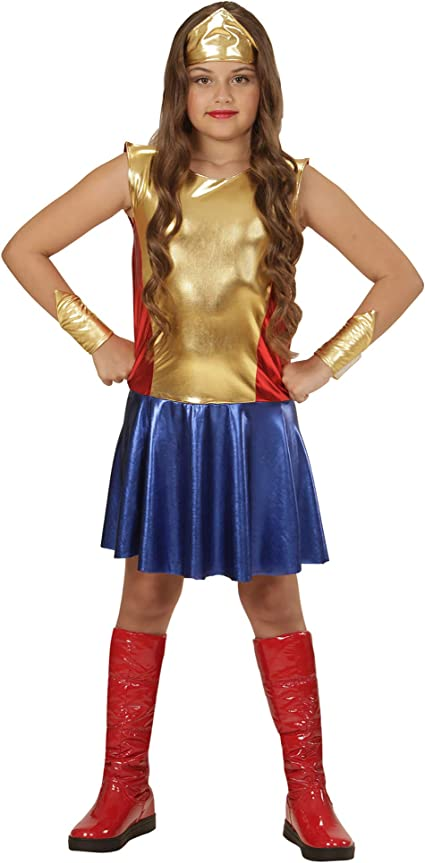 Costume Classico Wonder Woman 129-140 cm Rubies Costume Ufficiale Wonder Woman Taglia XL9//10 Anni