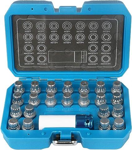 Roue Écrou Clé Set Pour VAG 23pc 6275 par laser