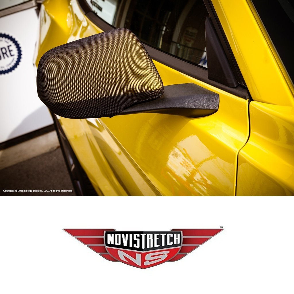 MIDWEST CORVETTE Mustang 6th Generation NoviStretch Mirror Bra Covers High Tech Stretch Mask Fits All Mustangs 2015 and Newer