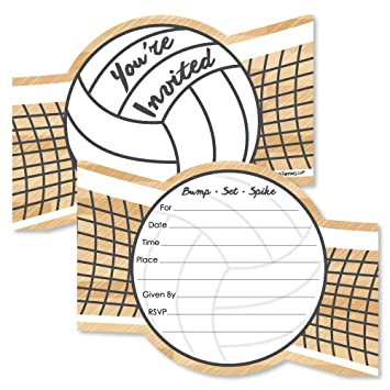 amazon bump set spike volleyball shaped fill in invitations