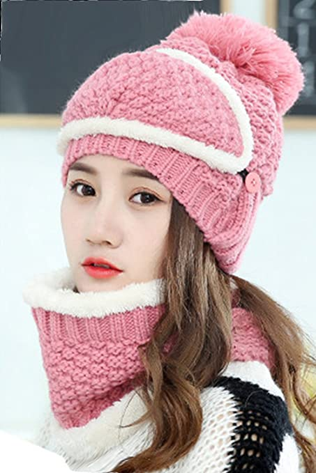 ed7ba0f713 Amazon.com  Generic Wool hat cap women girls lady Korean winter ...