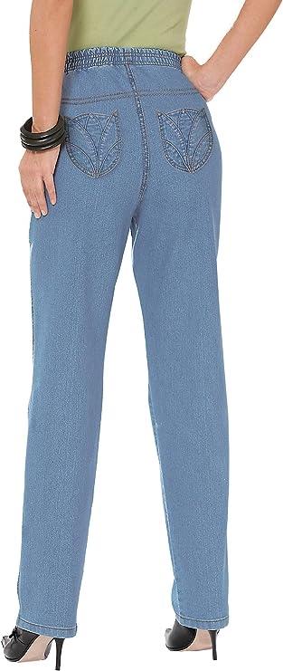 Damen-Jeans - blue-bleached - Gr.46 - Sieh an! - 627568