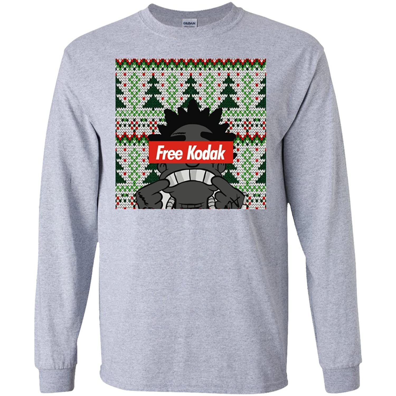Christmas Free Kodak Style Men Long Sleeves