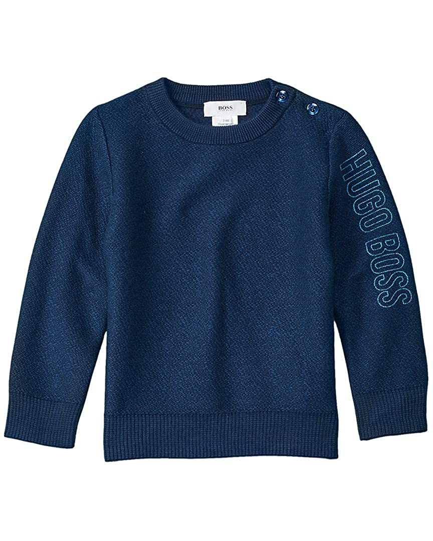 2A Blue Hugo Boss Boys Logo Sweater